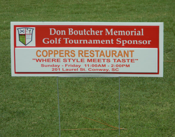 Coppers supported a golf tournament